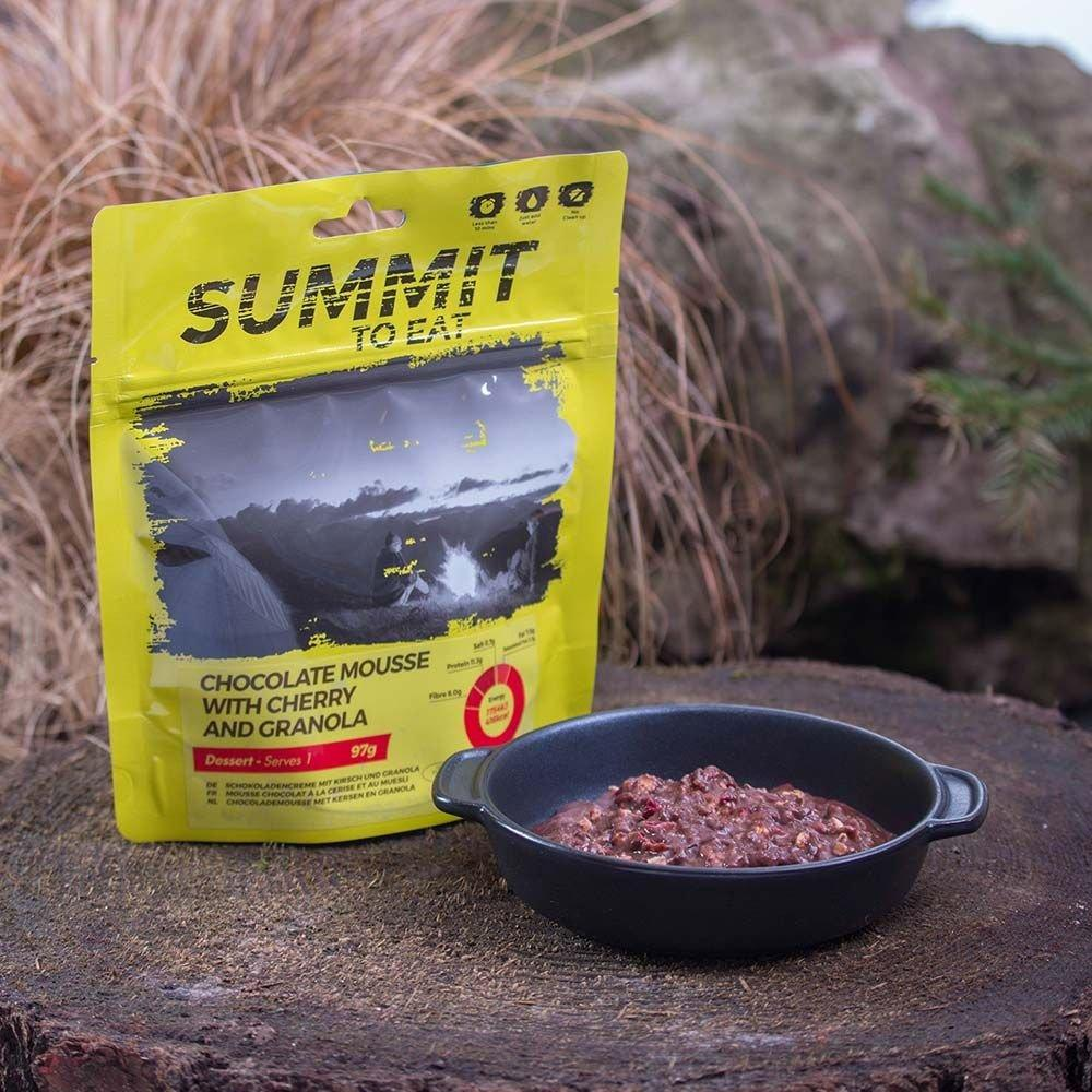 Summit To Eat Camping Meal: Chocolate Mousse with Granola & Cherry