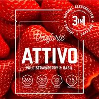 Attivo Energy & Caffeine Powder - Single - Wild Strawberry & Basil