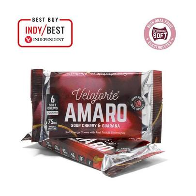Veloforte Amaro Energy Chews - Single - Sour Cherry & Guarana
