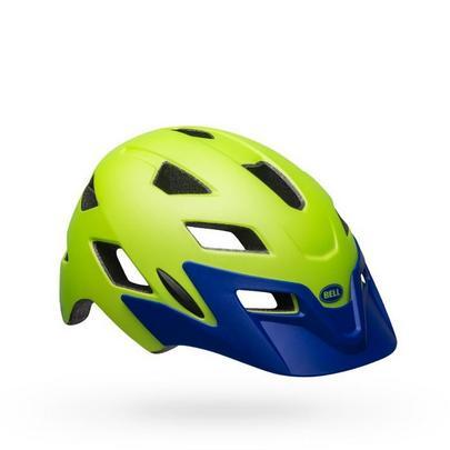 Bell Kids' Sidetrack Helmet - Bright Green/Blue