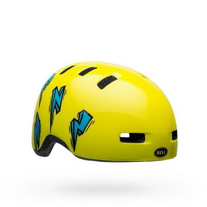 Bell Kids' Li'l Ripper Toddler Helmet - Hi Viz/Blue Bolt