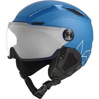 V-Line Visor Ski Helmet - Yale Blue Matte
