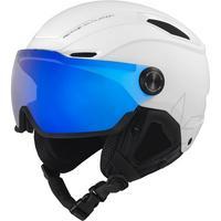 V-Line Visor Ski Helmet - White Matte