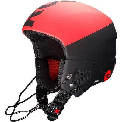 Rossignol Hero 9 Blaze Ski Race Helmet - Black/Red