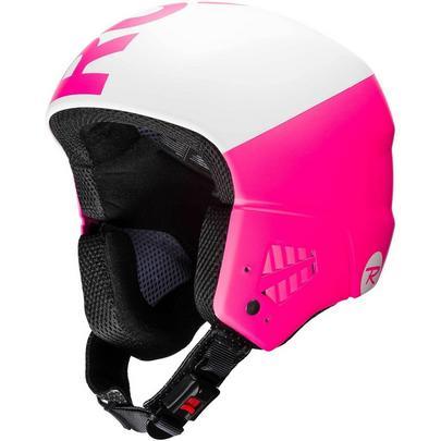 Rossignol Hero 9 FIS Blaze Ski Race Helmet - White/Pink