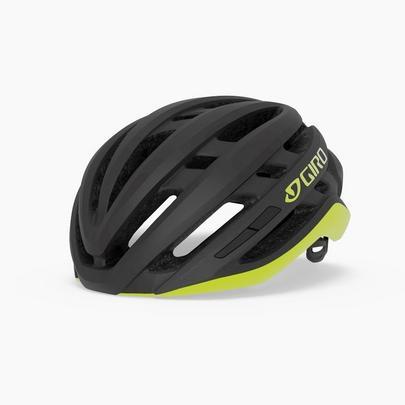 Giro Agilis Road Cycling Helmet - Matt Black/Citron
