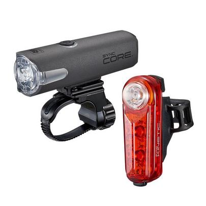 Cateye Sync Core & Kinetic Front and Rear Light Set