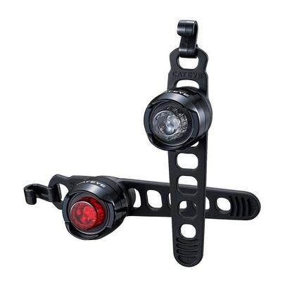 Cateye Orb Rechargeable Bike Front and Rear Light Set