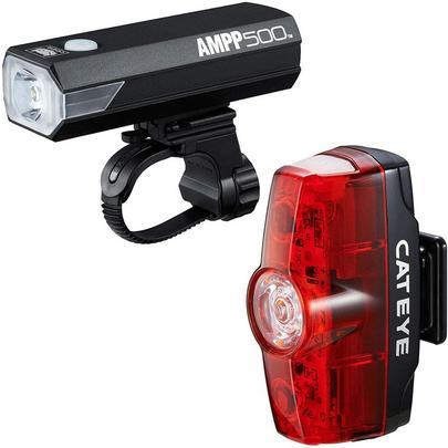 Cateye AMPP 500 / VIZ 150 Light Set - Front and Rear