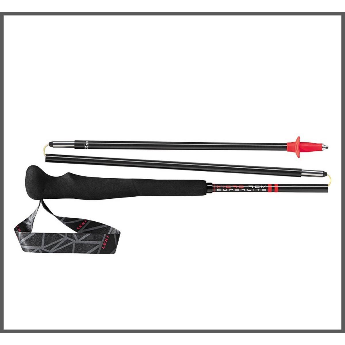 Leki Micro RCM Superlight Trail Running Poles - Red