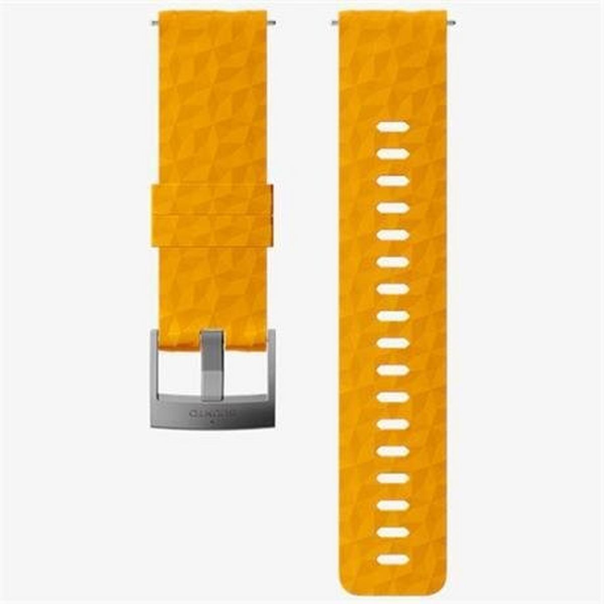 Suunto Watch Spare/Accessory: 24mm Explore 1 Silicone Strap Amber/Grey Medium