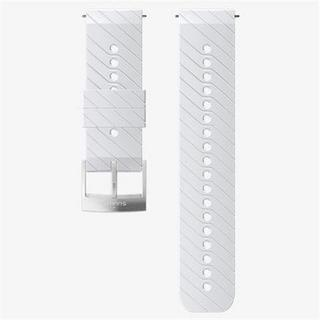 Watch Spare/Accessory: 24mm Athletic 3 Silicone Strap White/Steel Medium