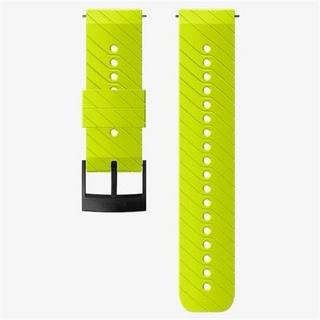 Watch Spare/Accessory: 24mm Athletic 3 Silicone Strap Lime/Black Medium