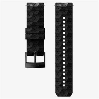 Watch Spare/Accessory: 24mm Explore 2 Silicone Strap Black/Black Medium