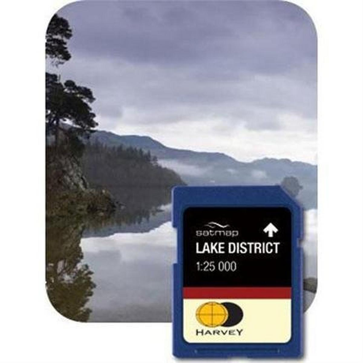 Satmap GPS Spare/Accessory: Mapping Harvey Lake District 1:25,000