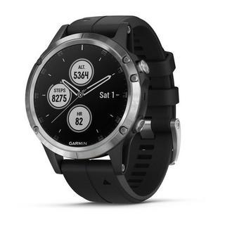 GPS Watch  Fenix 5 Plus Silver with Black Band