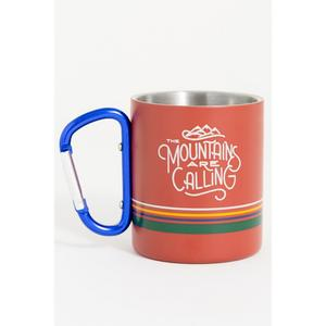 Mountains Calling 10oz Steel Carabiner Cup