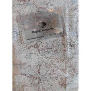Harvey Pocket Lens Small 84 x 54mm Map Magnifier
