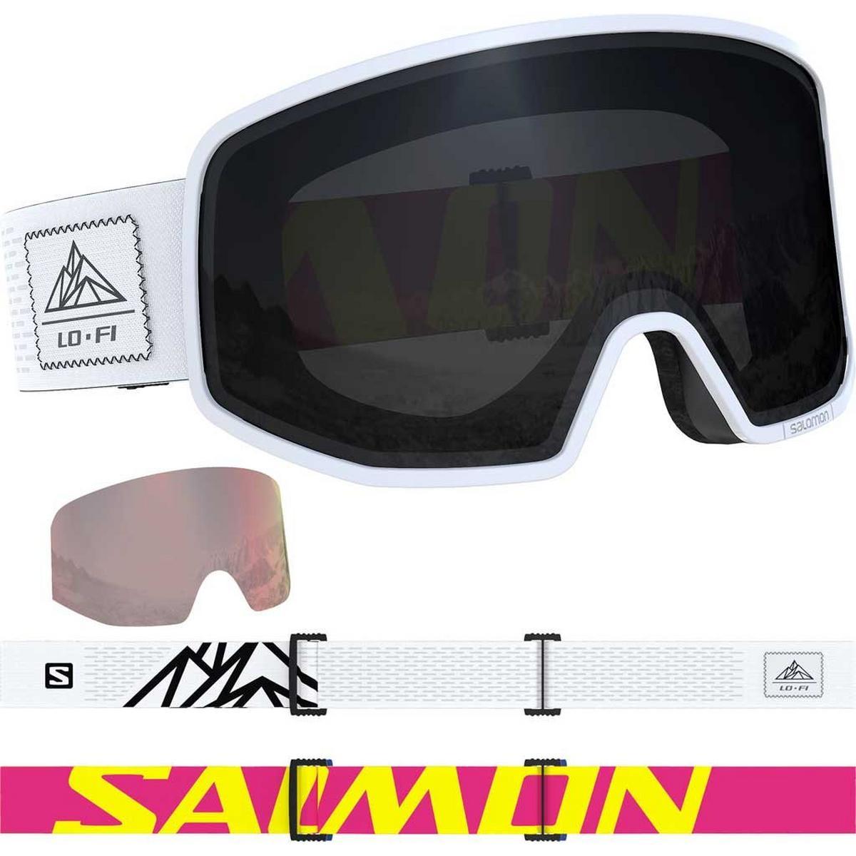 Salomon Ski Goggles LO FI Solar Black/White Cat 3