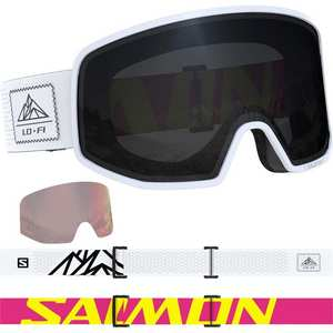Ski Goggles LO FI Solar Black/White Cat 3