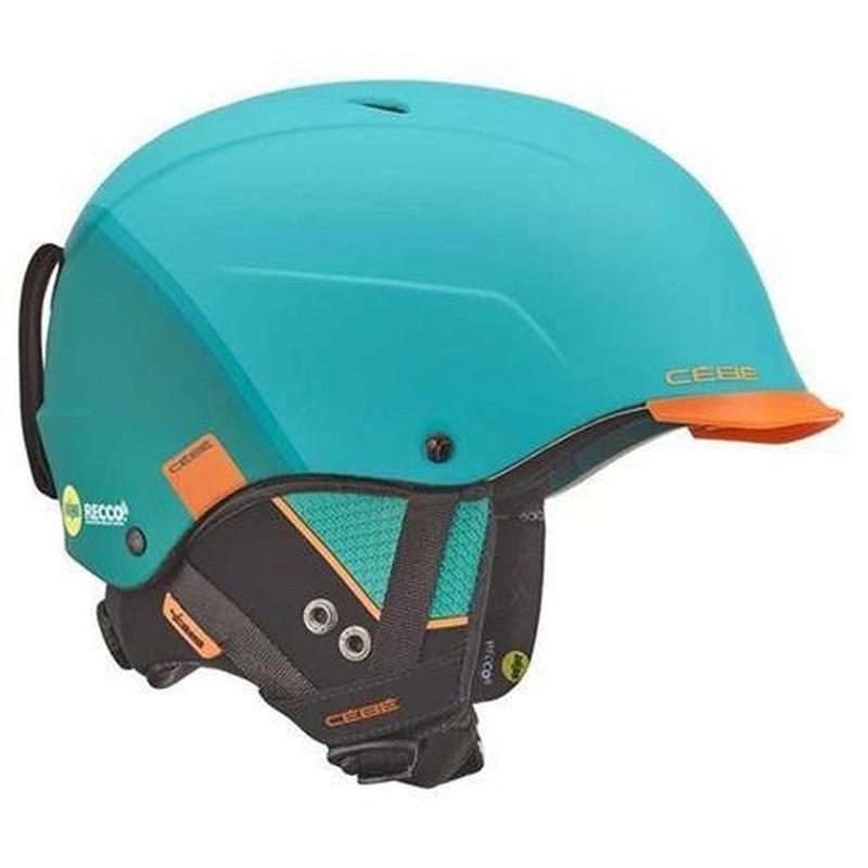 Ski Helmet Contest Visor Ultimate MIPS Matt Fade Turquoise Orange