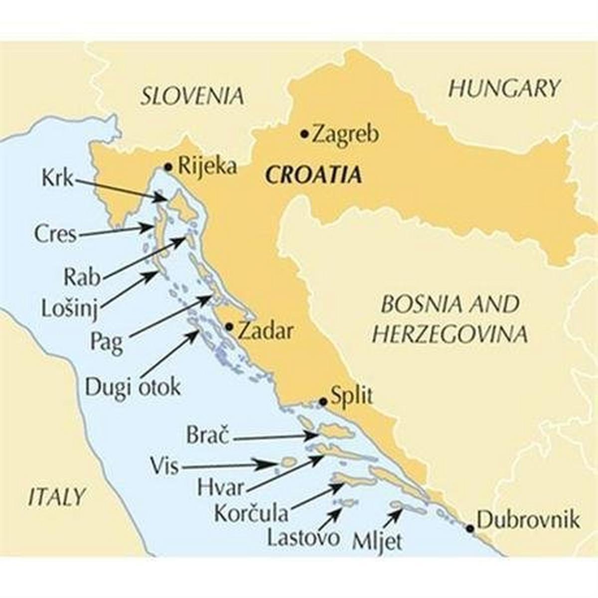 Cicerone Guide Book: The Islands of Croatia