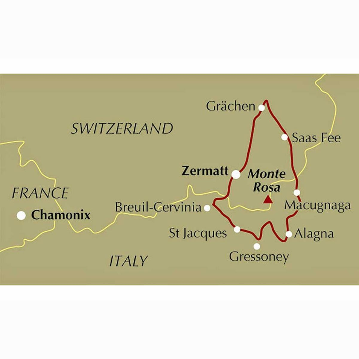 Cicerone Guide Book: The Tour of Monte Rosa