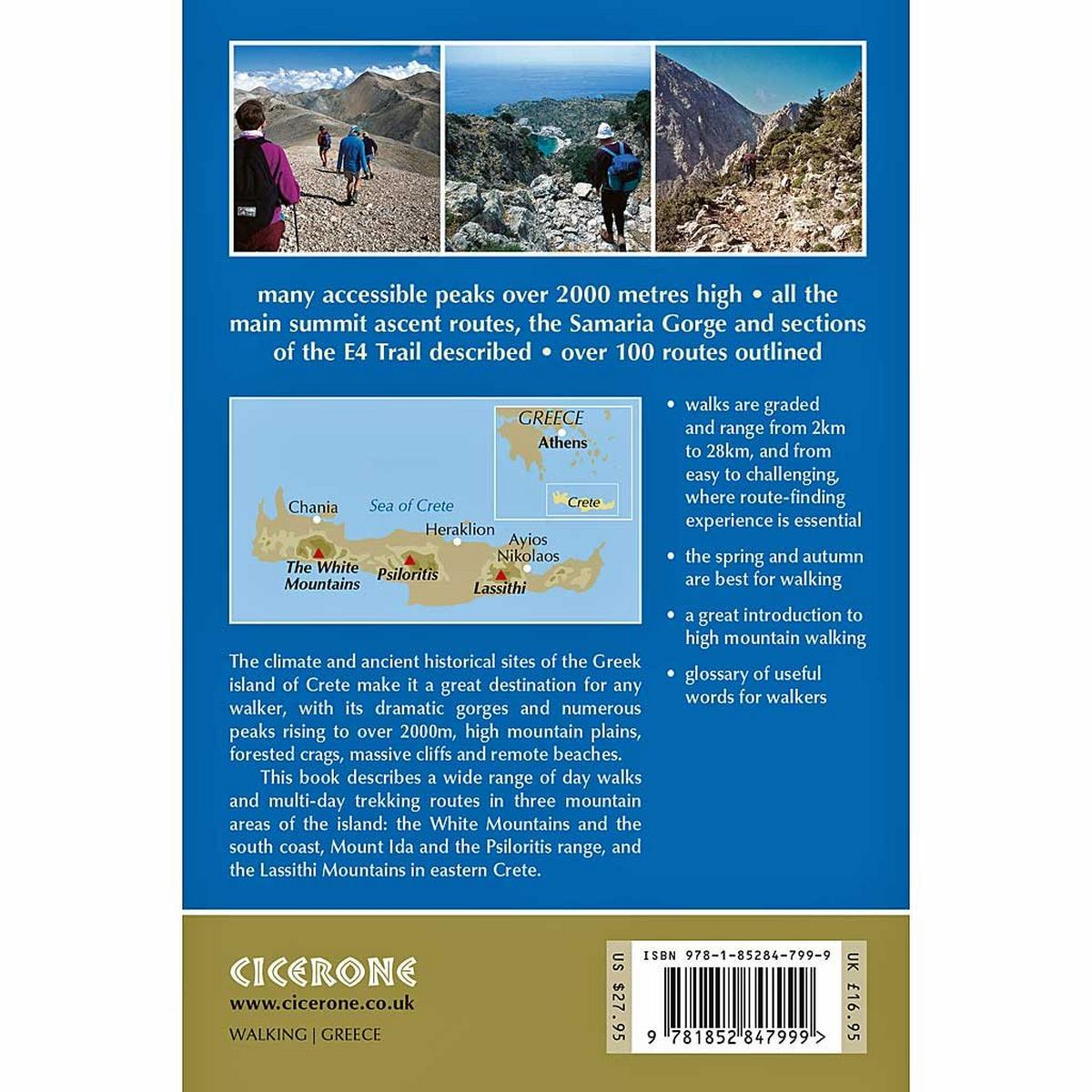 Cicerone Guide Book: Walks and Treks in the High Mountains of Crete