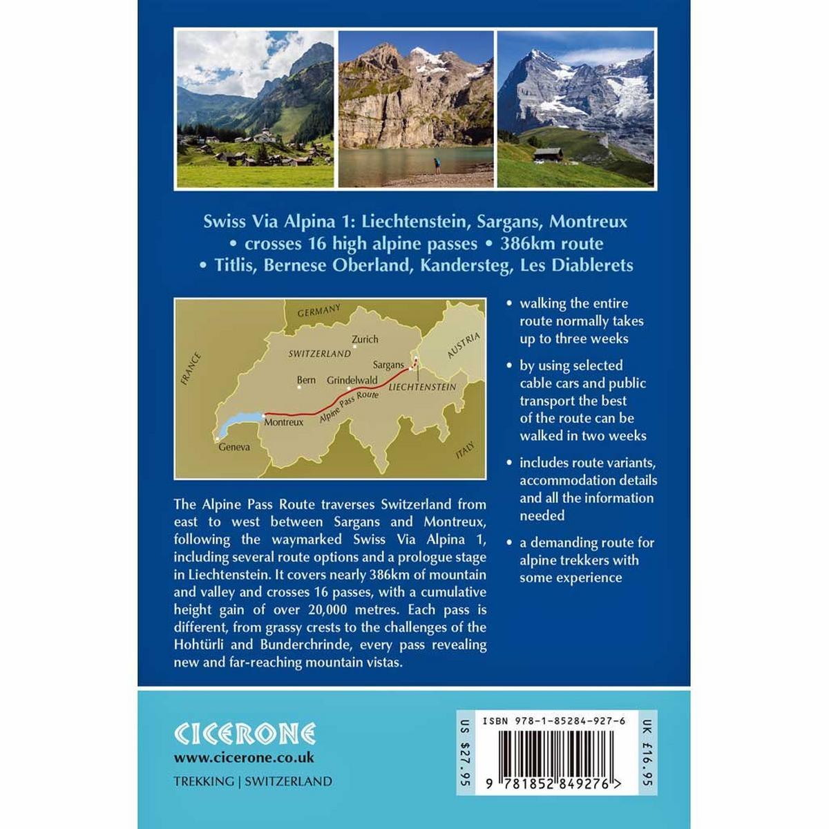 Cicerone Guide Book: Trekking the Swiss Alpine Pass Route - Via Alpina 1