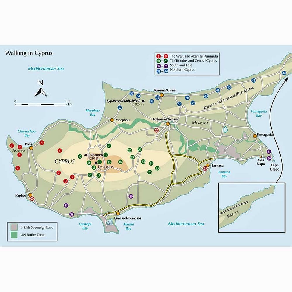 Cicerone Walking Guide Book: Walking in Cyprus