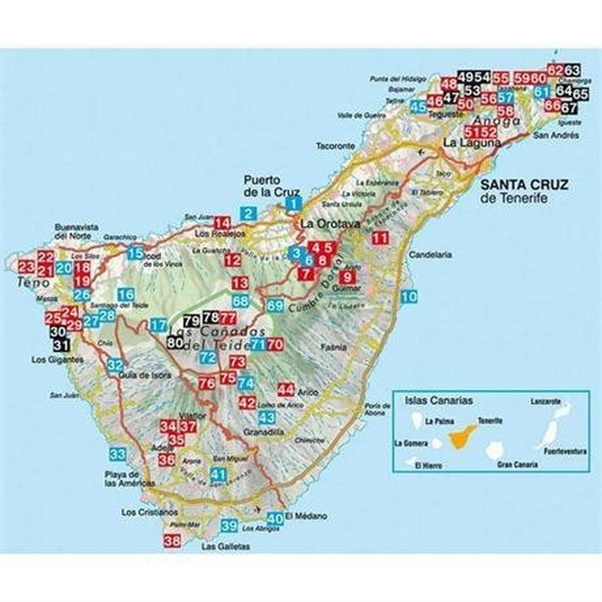 Rother Guides Rother Walking Guide Book: Tenerife