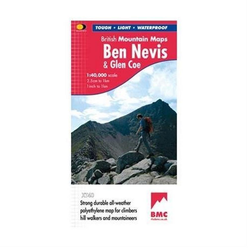 Cordee Harvey Map - BMC: Ben Nevis & Glen Coe 1:40000