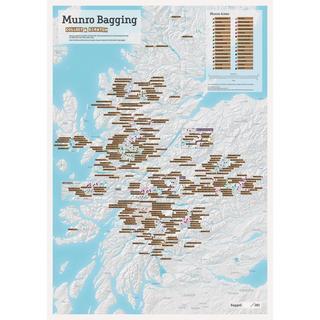 Munro Bagging Scratch Map A1
