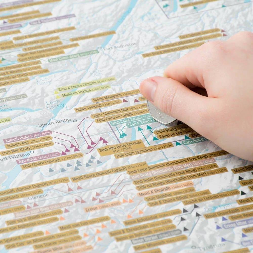 Cordee Munro Bagging Scratch Map A1