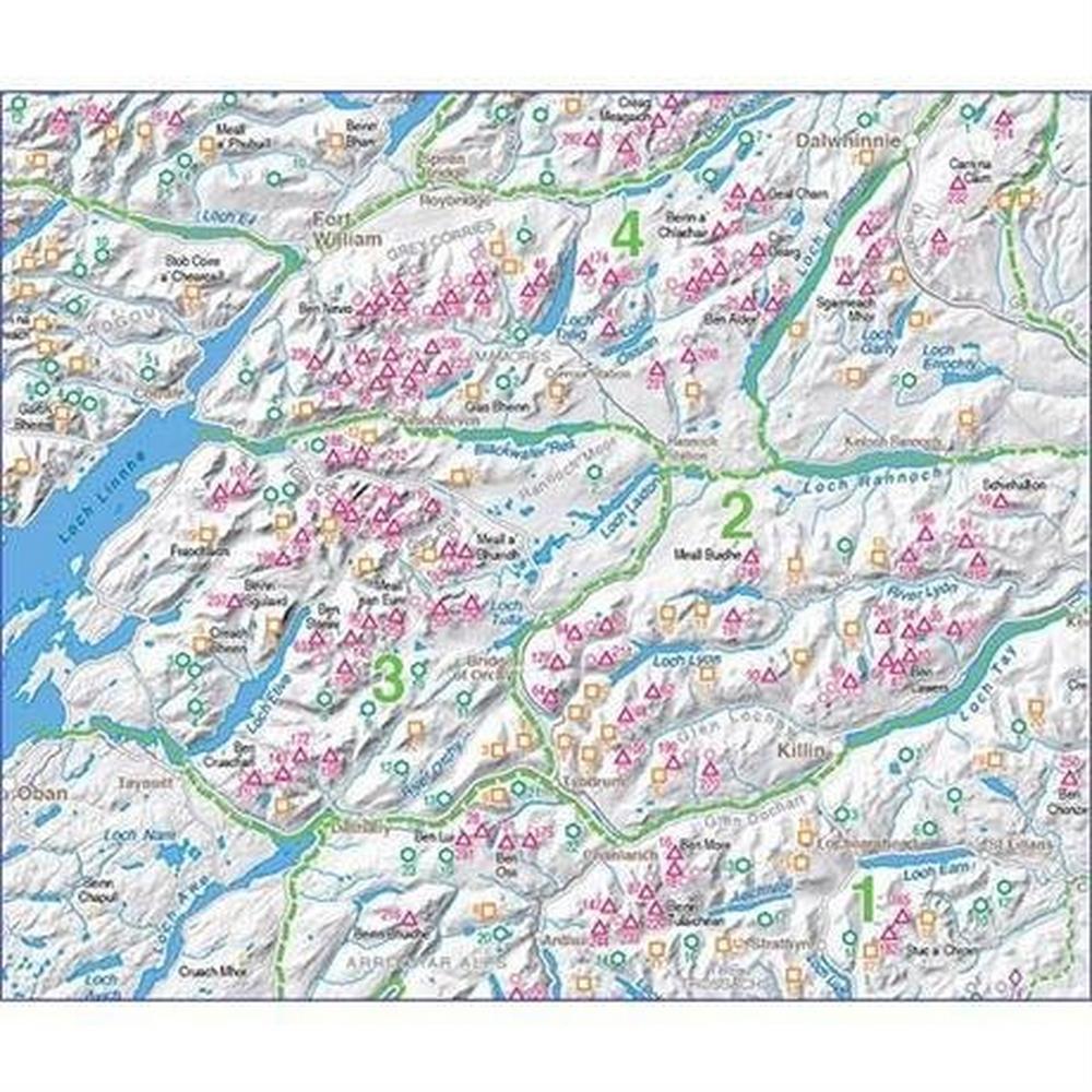 Harveys Harvey Map: Munro Wall Chart