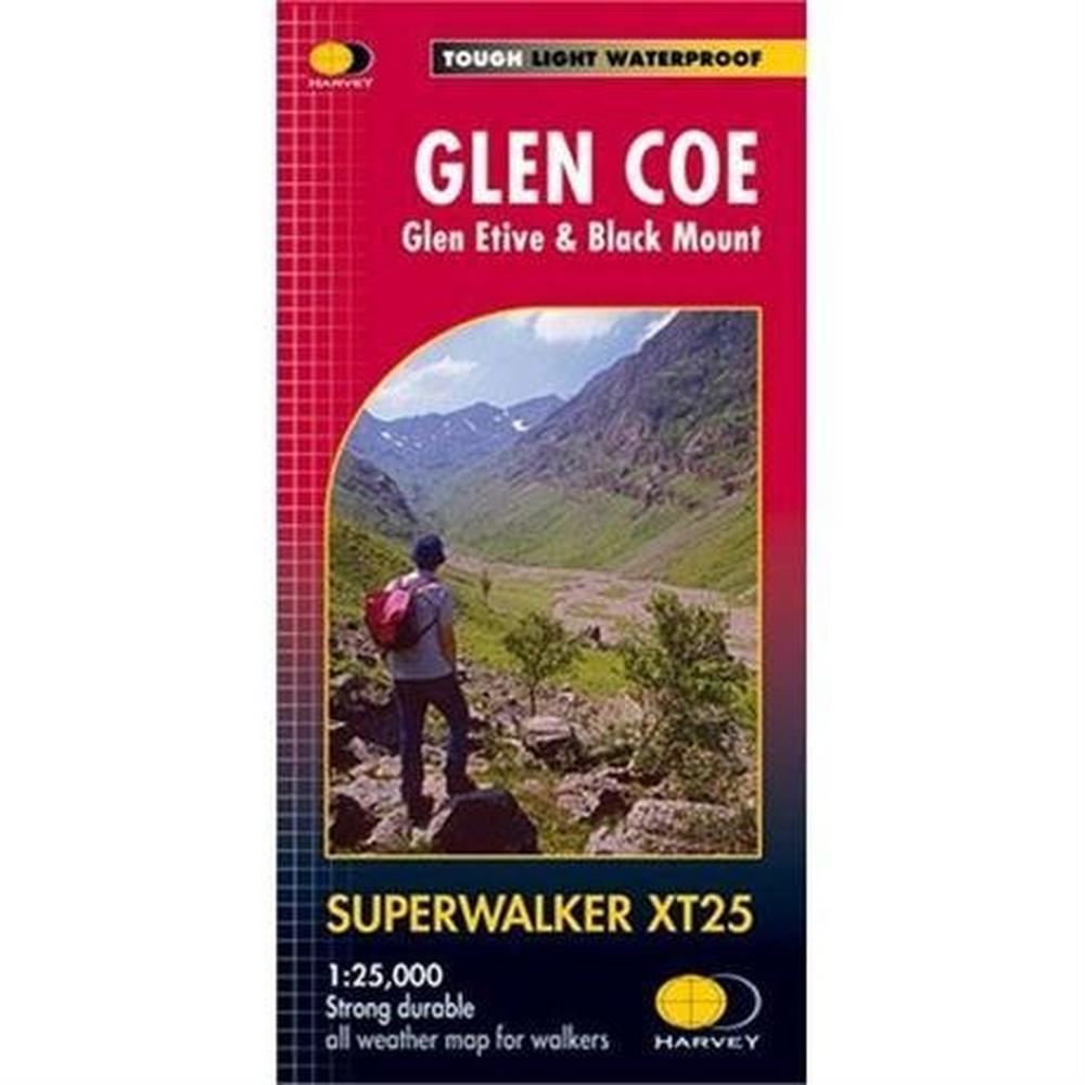 Harveys Harvey Map - Superwalker XT25: Glen Coe: Glen Etive & Black Mount