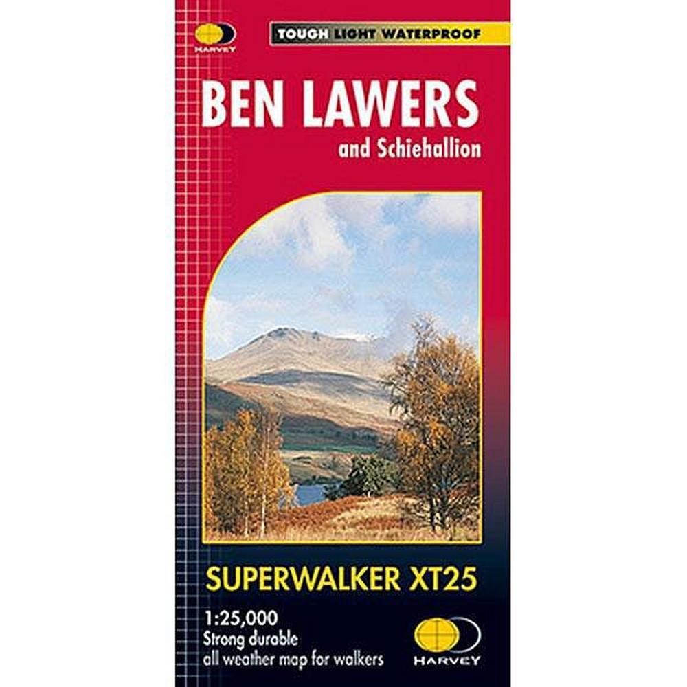 Harveys Harvey Map - Superwalker XT25: Ben Lawers and Schiehallion