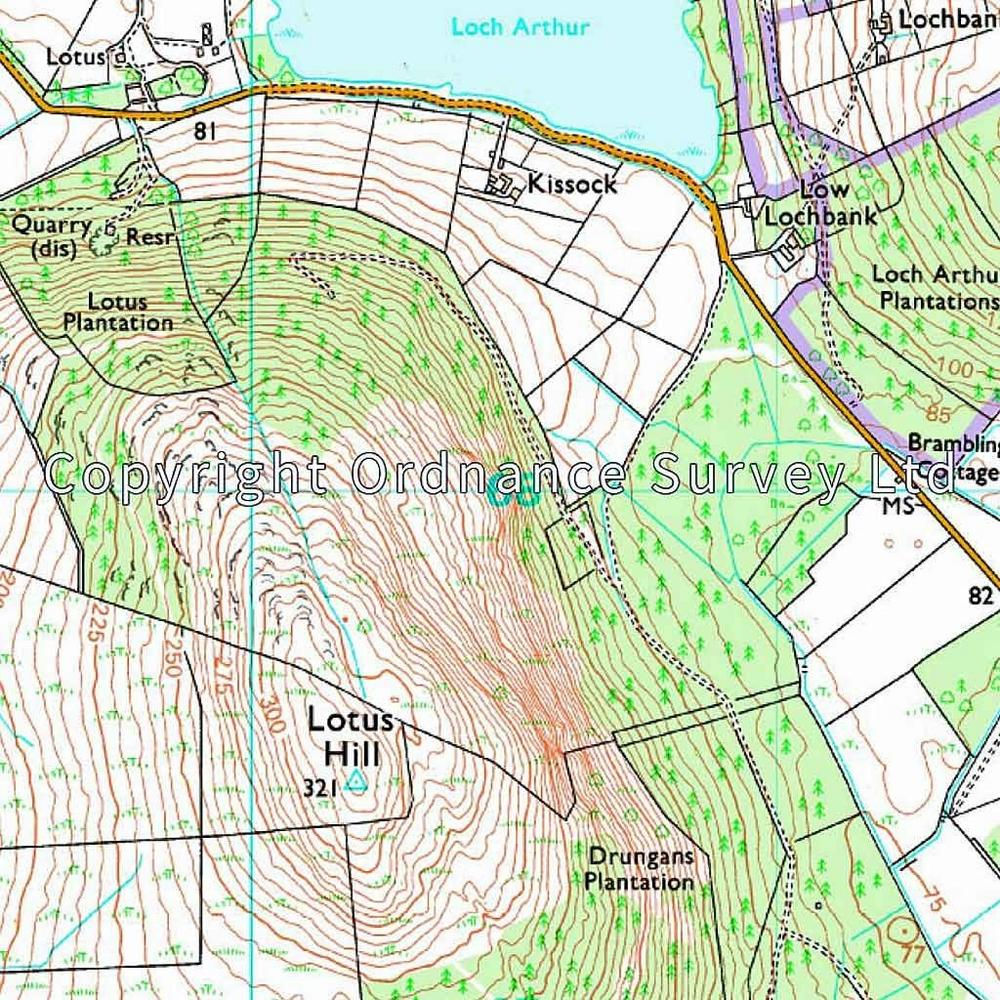 Ordnance Survey OS Explorer Map 313 - Dumfries & Dalbeattie