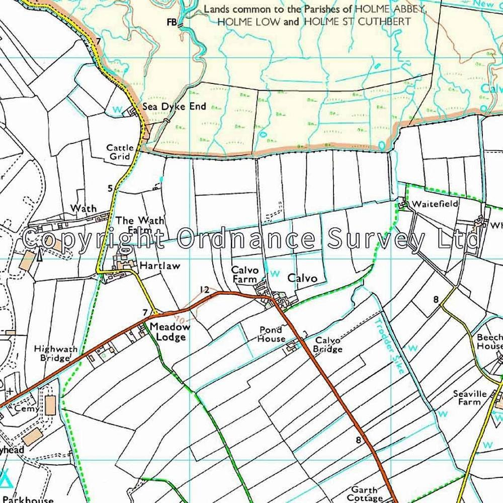 Ordnance Survey OS Explorer Map 314 Solway Firth, Wigton and Silloth