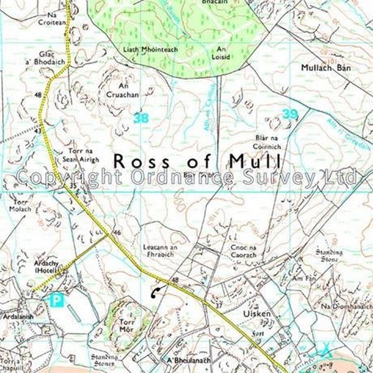Ordnance Survey OS Explorer Map 373 Iona, Staffa and Ross of Mull