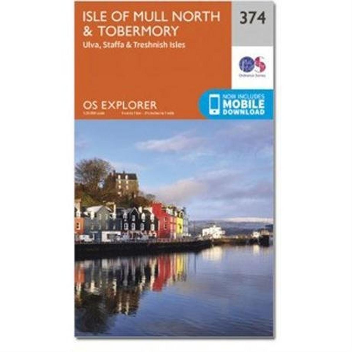 Ordnance Survey OS Explorer Map 374 Isle of Mull North and Tobermory