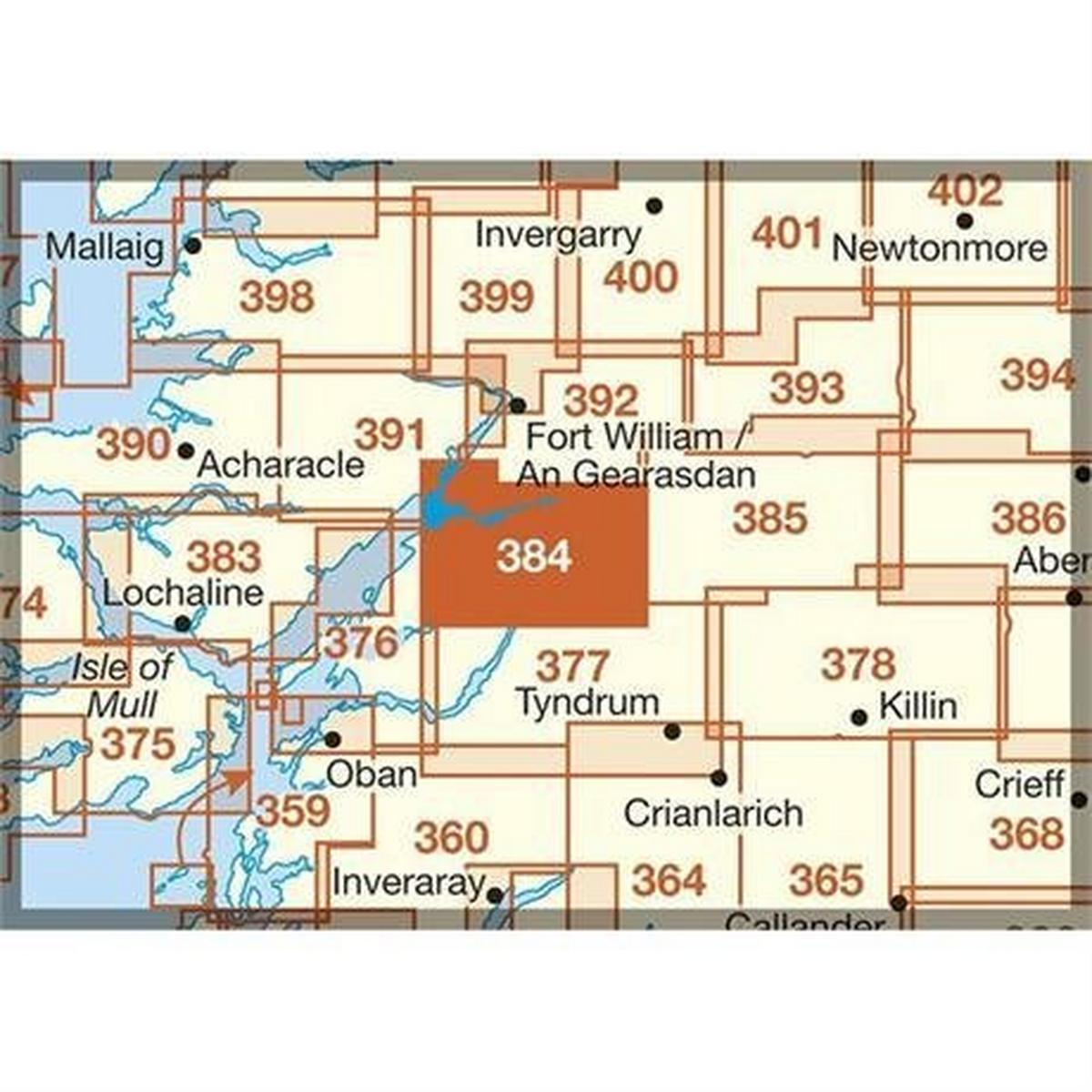 Ordnance Survey OS Explorer Map 384 Glen Coe