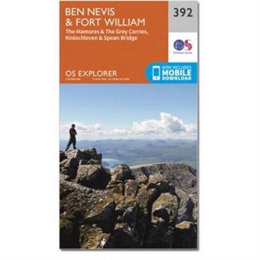 Ordnance Survey OS Explorer Map 392 Ben Nevis and Fort William