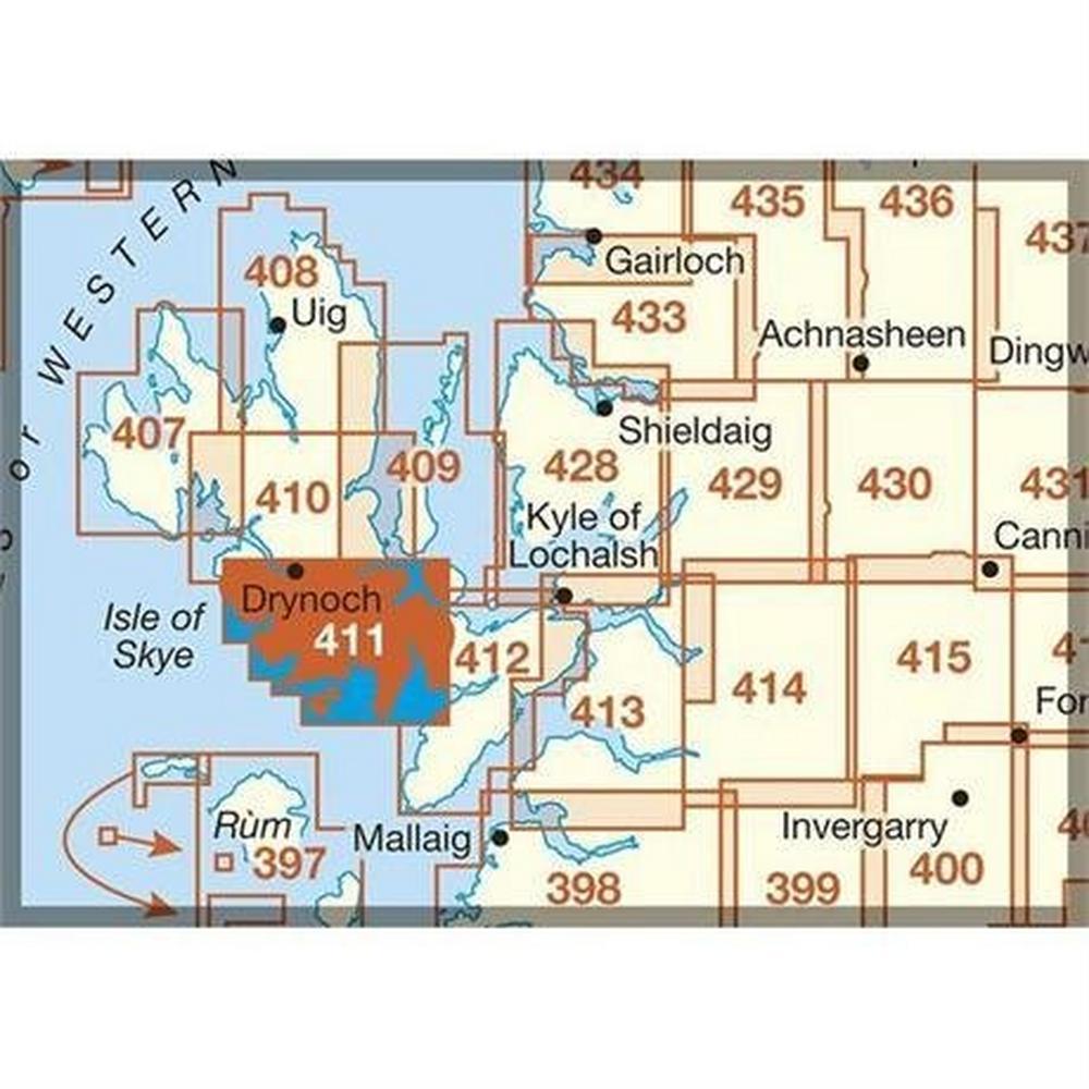 Ordnance Survey OS Explorer Map 411 Skye - Cuillin Hills - Soay