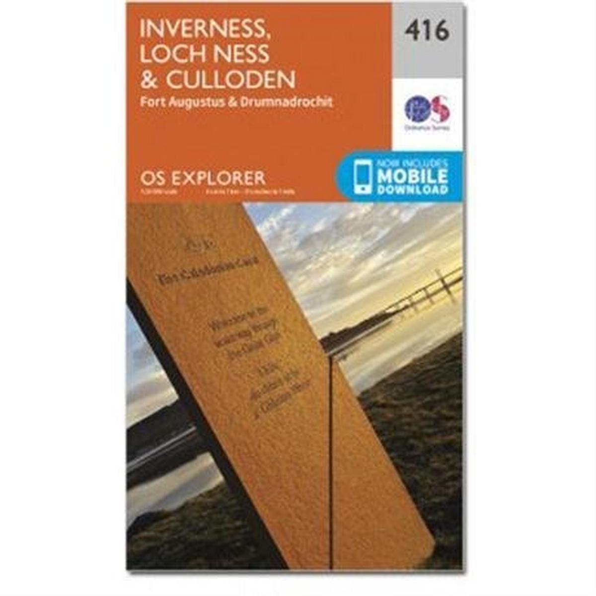 Ordnance Survey OS Explorer Map OL416 Inverness, Loch Ness & Culloden