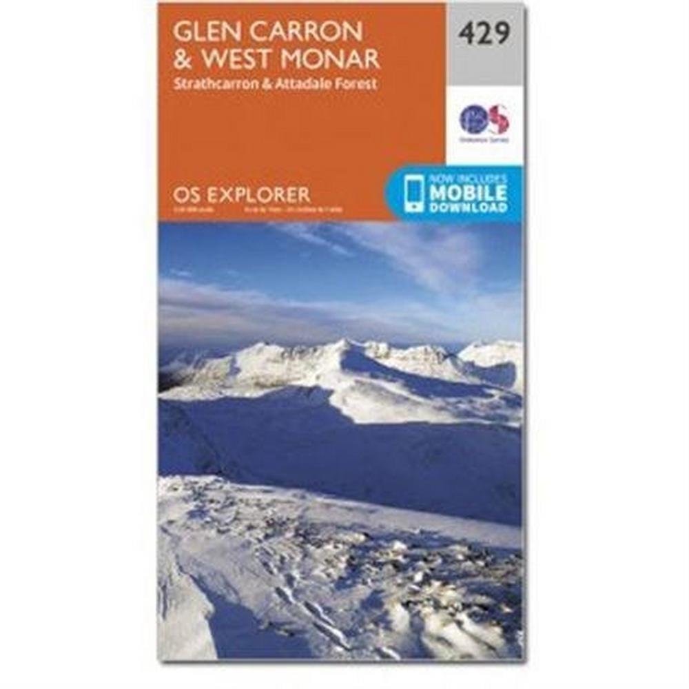 Ordnance Survey OS Explorer Map OL429 Glen Carron and West Monar