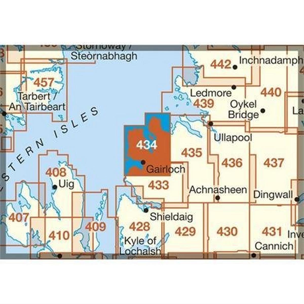 Ordnance Survey OS Explorer Map 434 Gairloch and Loch Ewe