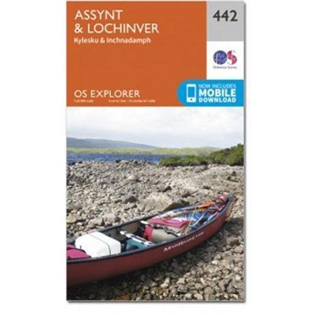 Ordnance Survey OS Explorer Map 442 Assynt and Lochinver