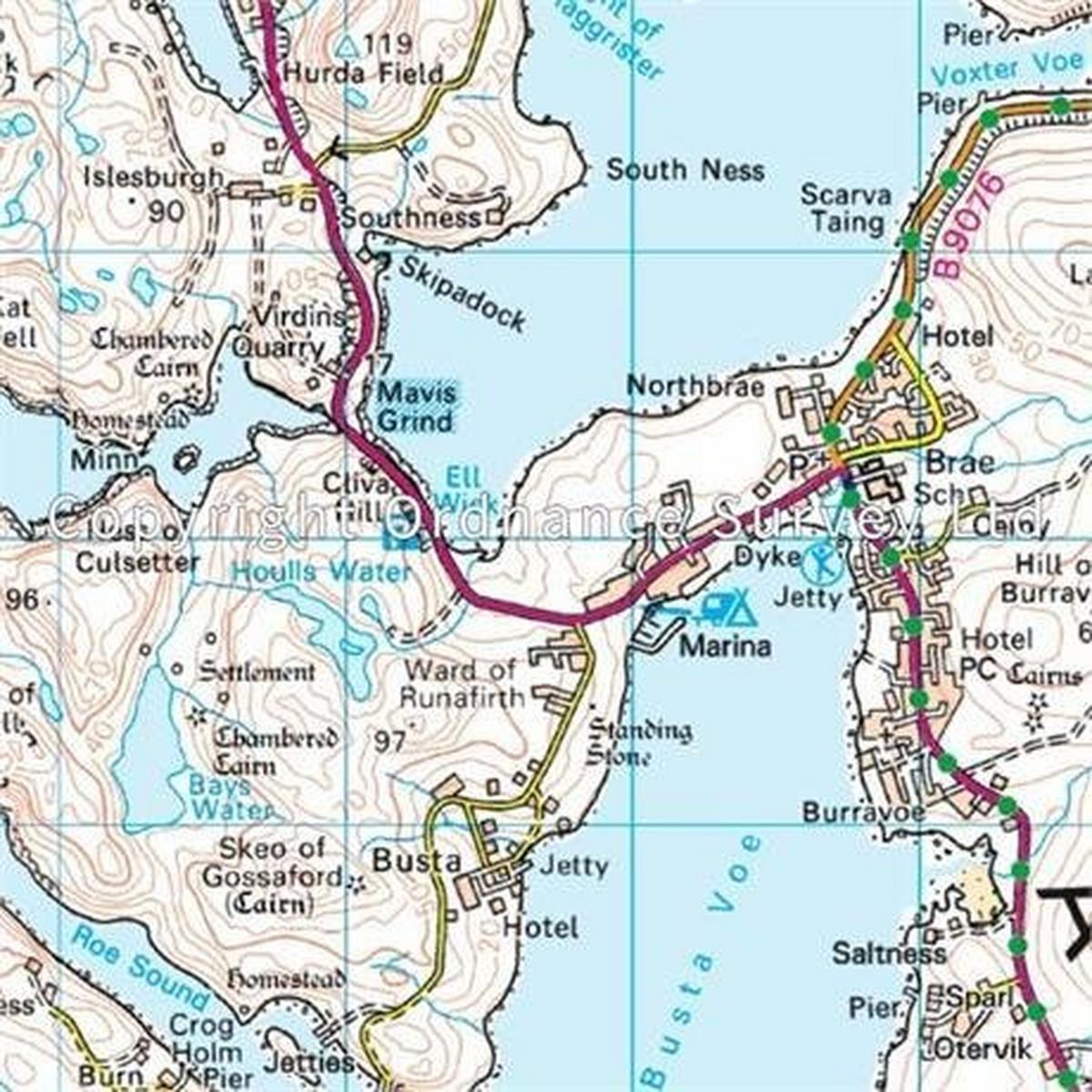 Ordnance Survey OS Landranger Map 03 Shetland - North Mainland