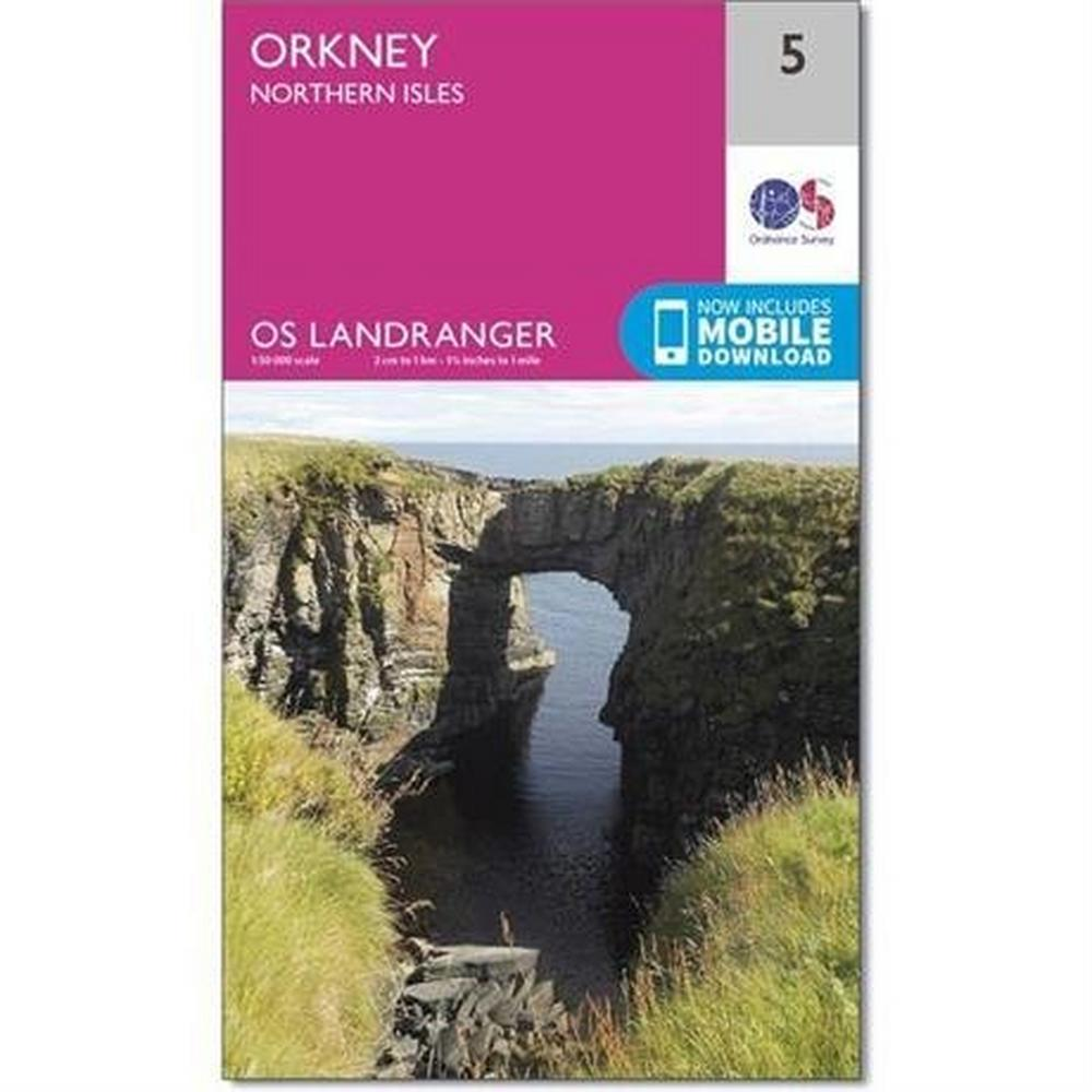 Ordnance Survey OS Landranger Map 05 Orkney - Northern Isles